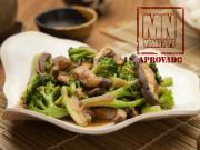 Refogado de brócolis com shiitake