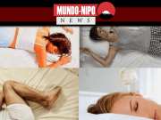Pessoas em várias posições de dormir