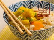 Tigela de curry de legumes