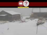 Registro da neve antecipada em hokkaido