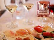 Variedade de vinhos para sushi