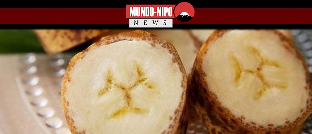 Banana para ser consumida com casca