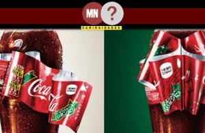 Rótulo da Coca-cola edição natalina