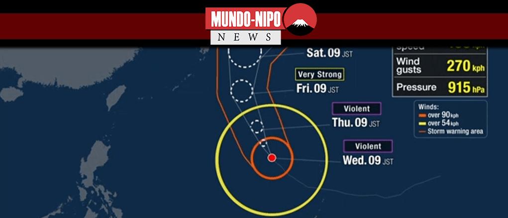 Tufão Hagibis se aproxima do Japão neste final de semana