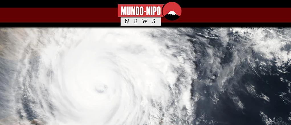 visão superior de um tufão