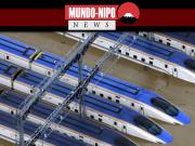 Shinkansens inundados