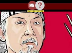 Ilustração japonesa de chef segurando hashi