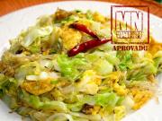 Salada de repolho chinês refogado