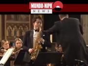 Saxofonista na competição
