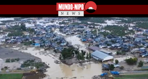 Imagens aereas do desastre causado pelo tufão