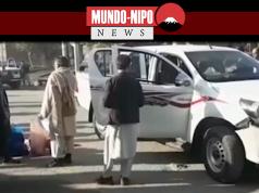 Cenas do noticiário da NHK sobre o atentado