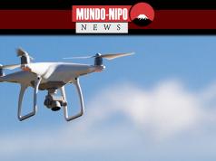 Drone sobrevoando uma área