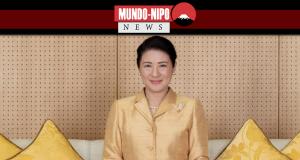 Imperatriz Masako sentada na sala imperial