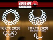 logotipos dos Jogos Paralímpicos e Olímpicos de Tóquio 2020, em Tóquio.