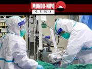 A equipe médica trata um paciente com pneumonia causada pelo novo coronavírus no Hospital Zhongnan da Universidade de Wuhan