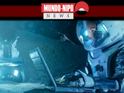 Astronautas usam computador no espaço