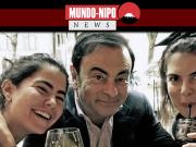 Carlos Ghosn ao lado de suas filhas