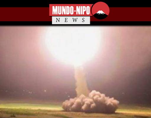 Imagem real de missel sendo lançado para base dos EUA