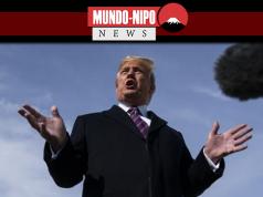 Donald Trump durante uma coletiva de imprensa