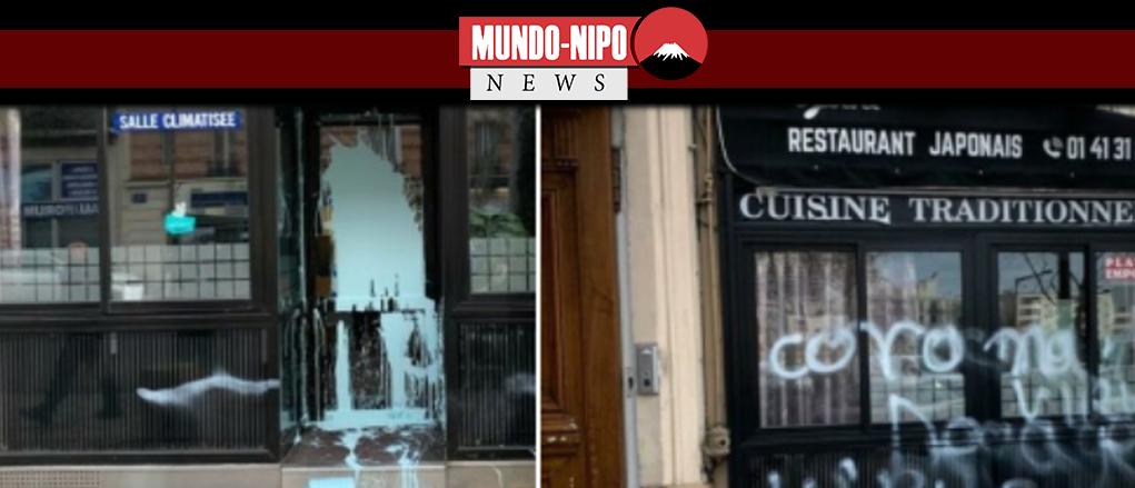 Restaurante japones é vandalizado em paris