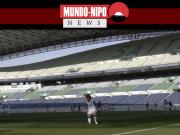Estádio japones completamente vazio