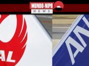 Logos das empresas JAL E ANA