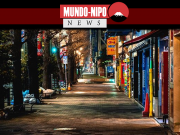 Movimentado centro urbano do Japao, agora está vazio