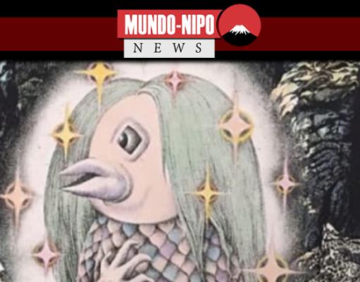 Monstro Amabie desenhado pelo falecido artista de mangá Shigeru Mizuki
